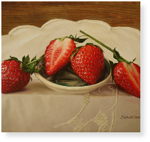 Strawberries on a Small Dish m.