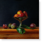 Plums on a Silver Dish