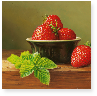 Strawberries in a Green Bowl m