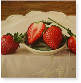 Strawberries on a Small Dish